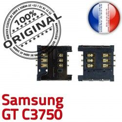c3750 Card Carte Prise Lecteur Contacts Dorés GT OR à Connecteur SIM ORIGINAL Reader Connector souder Samsung S Pins SLOT