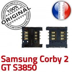 Prise Reader s3850 Carte Contacts Connector GT 2 Pins Corby ORIGINAL Lecteur S Samsung souder OR Connecteur à Card SIM Dorés SLOT