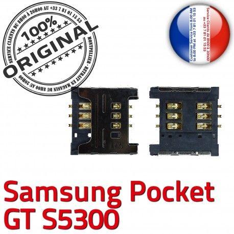 Samsung Galaxy Pocket GT s5300 S OR ORIGINAL Lecteur Carte Reader Card SLOT Connector Dorés Contacts à Connecteur souder Pins SIM