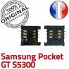 Samsung Galaxy Pocket GT s5300 S OR ORIGINAL Lecteur Carte Reader Card SLOT Connector Dorés Contacts à Connecteur souder Pins SIM