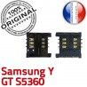Samsung Galaxy Y GT s5360 S Reader SIM à Connecteur Contacts Dorés OR Pins Lecteur Prise Card Connector souder ORIGINAL Carte SLOT