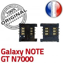 à Reader SIM Dorés Note Contacts Card Connector Pins S N7000 Lecteur Samsung Carte GT ORIGINAL souder SLOT Connecteur Galaxy