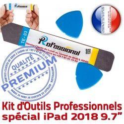 Outils A1893 Tactile PRO Remplacement 2018 Qualité Démontage KIT Réparation Professionnelle iSesamo Ecran Vitre A1954 Compatible iLAME iPad