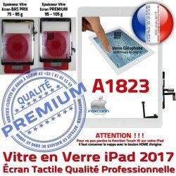 Adhésif Blanc IC Tablette Vitre AIR Oléophobe Tactile Réparation Qualité A1823 Caméra Nappe Monté Ecran iPad Fixation HOME Verre