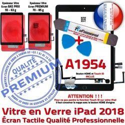 N iPad A1954 Oléophobe PREMIUM PACK Outils Tactile AIR Precollé HOME Verre Adhésif Réparation Vitre Démontage Qualité Noire KIT Bouton