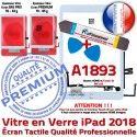 PACK iPad AIR A1893 B PREMIUM Adhésif Outils Blanche Tactile Nappe Qualité Vitre HOME KIT Precollé Oléophobe Verre Bouton Réparation