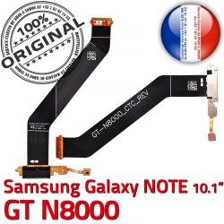 Qualité Réparation N8000 Chargeur Samsung Nappe OFFICIELLE NOTE de Charge Connecteur ORIGINAL GT Dorés Galaxy MicroUSB GT-N8000 Contacts USB Micro