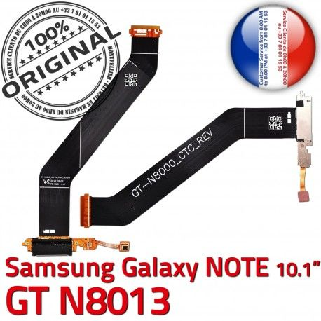GT-N8013 Micro USB NOTE Charge Chargeur OFFICIELLE N8013 Samsung de GT MicroUSB Contacts Réparation Galaxy Dorés Connecteur Nappe ORIGINAL Qualité