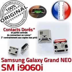 USB ORIGINAL Qualité charge Pins Prise Connector SLOT NEO souder Galaxy Dorés Fiche à Grand GT-i9060i Chargeur Dock Samsung MicroUSB