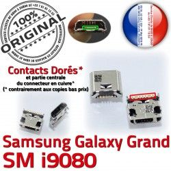 ORIGINAL Pins Micro Chargeur GT Connector i9080 Prise Samsung Grand USB Galaxy Dorés Qualité souder à de Connecteur charge Dock
