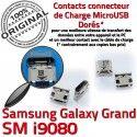 Samsung Galaxy GT-i9080 USB Dorés souder MicroUSB Chargeur Pins Qualité Fiche SLOT Connector Prise Dock charge de ORIGINAL à Grand
