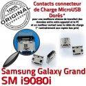 Samsung Galaxy GT-i9080i USB Prise Grand Dorés de Pins à souder Chargeur Fiche Connector SLOT charge ORIGINAL Qualité MicroUSB Dock