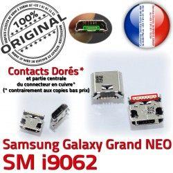 Qualité NEO souder Connector MicroUSB charge Dorés SLOT Samsung Prise Chargeur Grand ORIGINAL GT-i9062 Fiche USB Dock Galaxy Pins à