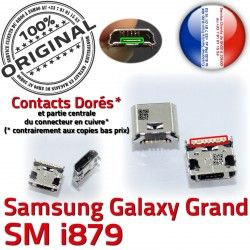 Prise Grand Galaxy charge Dorés Dock USB Connector ORIGINAL i879 Qualité à souder Micro de Samsung Pins GT Connecteur Chargeur