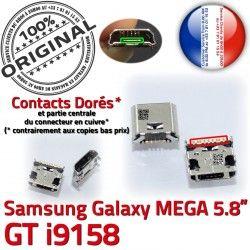 Prise à i9158 Mega GT Micro Chargeur charge Connector ORIGINAL Connecteur Dorés Duos Galaxy Qualité de Pins Samsung souder USB