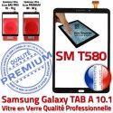 Galaxy TAB A6 2016 SM-T580 N 10.1 Supérieure en inch Qualité Noir Noire Verre Résistante PREMIUM Tactile Vitre aux TAB-A6 Chocs Ecran