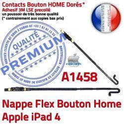 Poussoir 4 Nappe Accueil Adhésif Home Apple Flex A1458 Bouton iPad4 Qualité Autocollant Réparation iPad Châssis Remplacement Tablette