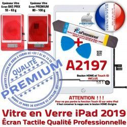 PACK Adhésif Precollé A2197 KIT Oléophobe PREMIUM B Bouton Blanche Qualité Réparation Tactile Nappe iPad HOME Vitre Outils Verre 2019