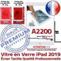 iPad 2019 A2200 Blanc Adhésif Tablette Ecran Verre Caméra Vitre Fixation HOME Nappe Tactile Réparation Qualité Oléophobe Monté