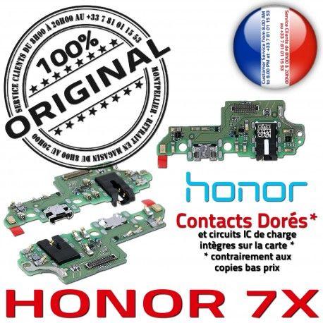 Honor 7X JACK Micro OFFICIELLE Câble ORIGINAL Charge PORT Branchement USB Antenne Qualité Nappe C Chargeur Téléphone Microphone