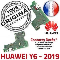 ORIGINAL Microphone Nappe Qualité PORT Y6 Antenne 2019 Huawei Branchement Micro OFFICIELLE USB Téléphone Charge Chargeur Prise