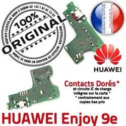 Qualité ORIGINAL Enjoy 9e Téléphone OFFICIELLE Branchement Micro Nappe Charge Huawei Chargeur Prise Antenne PORT USB Microphone
