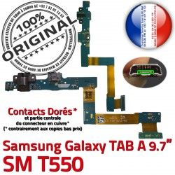 Galaxy C MicroUSB ORIGINAL Samsung SM Nappe Charge TAB SM-T550 de Réparation Connecteur Qualité T550 Doré A Chargeur OFFICIELLE Contact