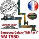 Samsung Galaxy TAB A SM-T550 C T550 Nappe Chargeur MicroUSB Charge Contact SM Qualité ORIGINAL OFFICIELLE Réparation de Connecteur Doré