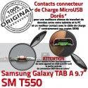 Samsung Galaxy TAB A SM-T550 C Connecteur MicroUSB Doré Charge Nappe Réparation de T550 OFFICIELLE Chargeur ORIGINAL SM Contact Qualité