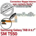 Samsung Galaxy TAB A SM-T550 C Doré T550 Contact Charge de ORIGINAL SM OFFICIELLE Connecteur Qualité Chargeur MicroUSB Nappe Réparation