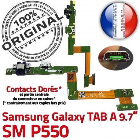 Samsung TAB A SM-P550 Galaxy C Connecteur USB de Réparation Contacts Doré Chargeur OFFICIELLE ORIGINAL Charge SM P550 Micro Qualité Nappe