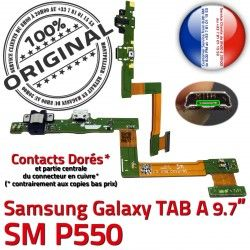 SM-P550 Nappe Chargeur C Charge Réparation OFFICIELLE TAB ORIGINAL SM Samsung Galaxy Connecteur MicroUSB P550 Qualité A de Contact Doré