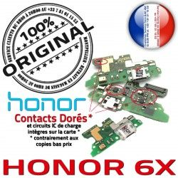 OFFICIELLE Charge Antenne Téléphone 6X Chargeur Microphone ORIGINAL Micro C Câble JACK Honor USB Qualité Branchement Nappe PORT