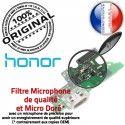 Honor 6X Charge Rapide ORIGINAL USB Micro Prise OFFICIELLE Chargeur Nappe Connecteur RESEAU Antenne Qualité Câble Microphone