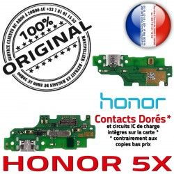 de USB Charge JACK Chargeur Câble Honor 5X Qualité RESEAU OFFICIELLE Microphone Nappe ORIGINAL Connecteur Micro Prise Antenne