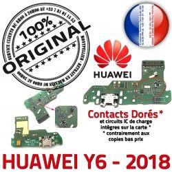 PORT Téléphone de Audio Charge Antenne JACK Câble USB Huawei Qualité Microphone Y6 Nappe DOCK 2018 écouteurs Chargeur ORIGINAL