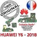 Huawei Y6 2018 JACK écouteurs Téléphone Charge Qualité Audio de DOCK ORIGINAL Chargeur PORT Nappe USB Microphone Antenne Câble