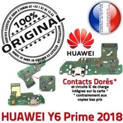 Microphone Y6 Prime Nappe Micro Chargeur Qualité RESEAU DOCK 2018 OFFICIELLE USB Connecteur ORIGINAL Antenne Huawei Prise Charge