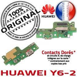Chargeur OFFICIELLE Nappe Prise Y6-2 USB ORIGINAL Antenne Microphone Qualité Connecteur Téléphone Charge PORT Huawei