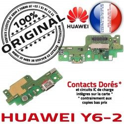 OFFICIELLE Charge Prise Connecteur Chargeur DOCK RESEAU Antenne Qualité ORIGINAL Nappe Huawei USB Y6-2 Téléphone Microphone
