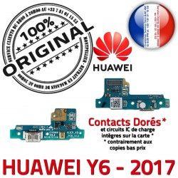Téléphone Y6 PORT de Microphone JACK Chargeur Qualité Micro Nappe 2017 Branchement Charge USB Huawei Antenne ORIGINAL DOCK Câble