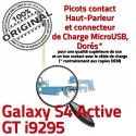 Samsung Galaxy S4 GT i9295 C OFFICIELLE Microphone Qualité Prise Antenne ORIGINAL Nappe Connecteur MicroUSB Active Charge Chargeur