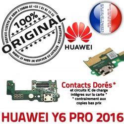 PORT écouteur Audio de Qualité ORIGINAL USB Charge Câble Antenne JACK écouteurs 2016 PRO Téléphone Chargeur Microphone Y6 Huawei Nappe