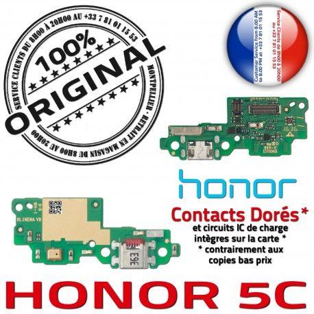 Honor 5C Microphone Antenne Huawei Téléphone Connecteur RESEAU Charge USB Qualité Chargeur ORIGINAL Nappe OFFICIELLE DOCK Prise