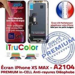 iPhone inCELL SmartPhone Écran Retina True HDR Qualité Affichage Tactile HD LCD Verre Super Apple in-CELL in PREMIUM A2104 Réparation 6,5 Tone