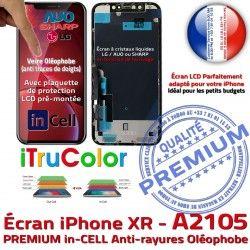 PREMIUM in-CELL in iTrueColor Ecran inCELL SmartPhone LCD Écran 3D Retina HD Qualité Tactile Super Apple 6.1 Réparation HDR Touch A2105 iPhone Verre