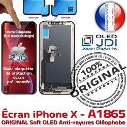 Complet Verre in A1865 OLED sur Écran Apple KIT soft X SmartPhone Vitre Retina Tactile iPhone Assemblé ORIGINAL Châssis 5,8