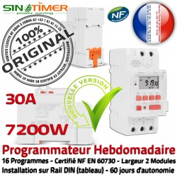 Programmation Électronique 7kW 30A Minuterie Journalière Rail Prises électrique Contacteur 7200W VMC Automatique Tableau Digital DIN