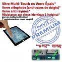 iPad4 Apple A1458 A1459 A1460 PN Ecran Fixation Noir Vitre PREMIUM Bouton HOME Precollé Verre 4 Remplacement Adhésif Tactile iPad Qualité Caméra Oléophobe