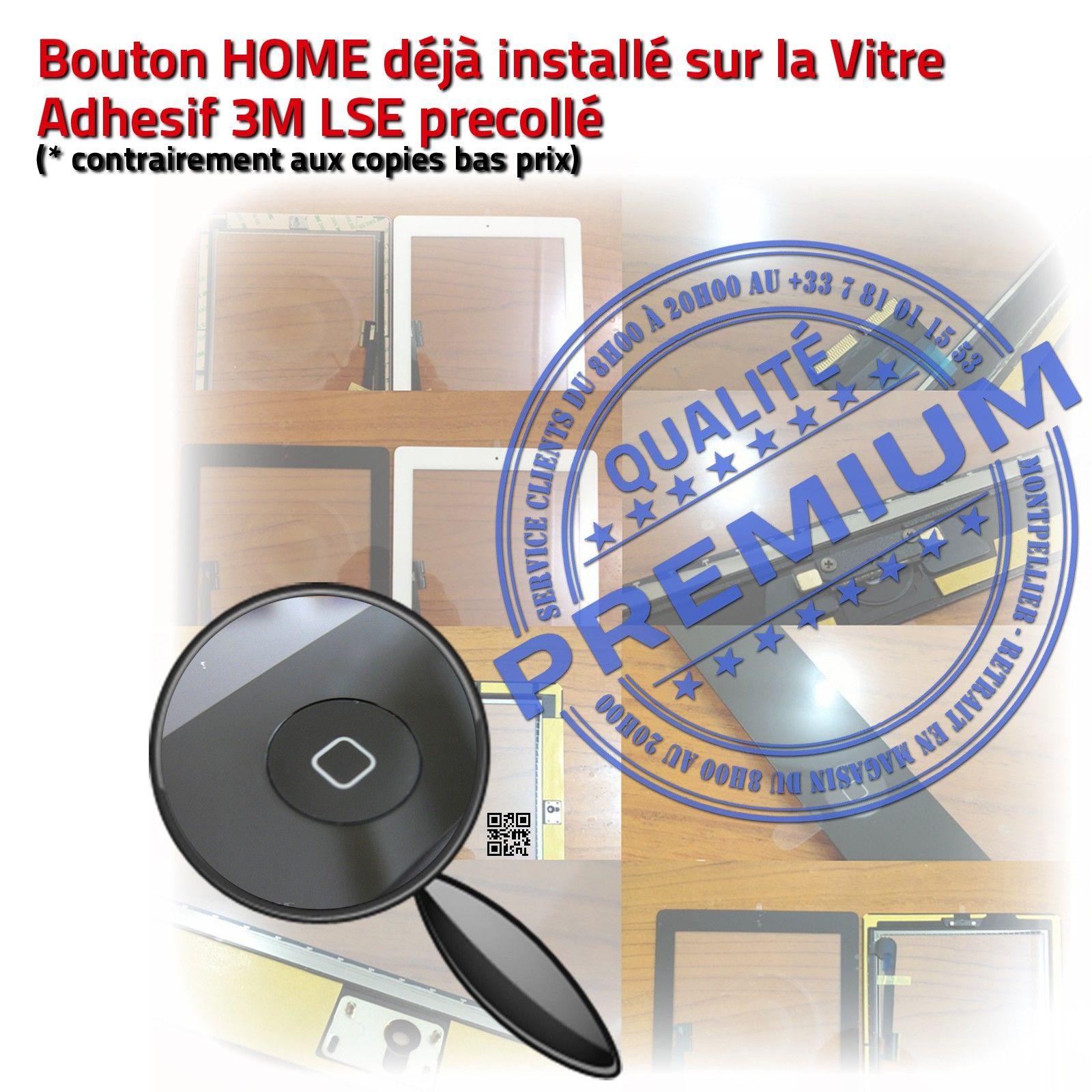 Vitre Ecran Tactile Ipad 4 A1460 Noir Assemblee Home Pre Monte